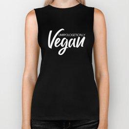 Unapologetically Vegan (white) Biker Tank