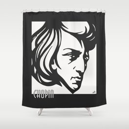 Art Deco style Chopin Shower Curtain