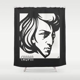 Art Deco style Chopin Shower Curtain