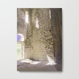 under the shadow of an ancient temple Metal Print