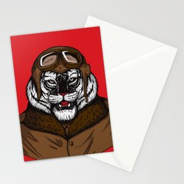 White Tiger Pilot Stationery Cards