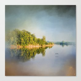 Tennessee River Reflections - Water Landscape Canvas Print
