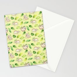 Coffee? Little sloth Stationery Cards