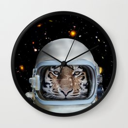 Astronaut Tiger Wall Clock