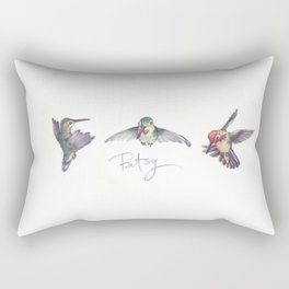 Anna's Hummingbirds Trio Rectangular Pillow