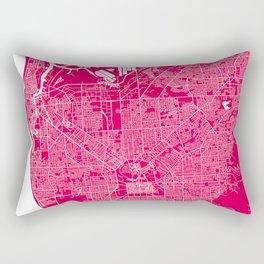 Adelaide map rapsberry Rectangular Pillow
