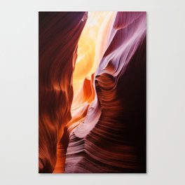 Glowing walls of lower antelope slot canyon Canvas Print