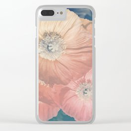 Capricious Tulips III Clear iPhone Case