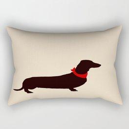 Daschund Dog Art Rectangular Pillow