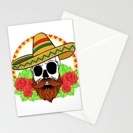"Mexican themed Top Garment Apparel ""Skull Bones Flowers Rose Hat Leaves"" T-shirt Design Mexico Stationery Cards"
