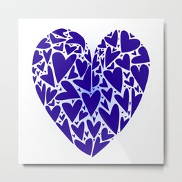 Love Hearts Abstract Metal Print
