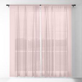 Millennial Pink Solid Matte Sheer Curtain