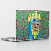 medieval Laptop & iPad Skins featuring Medieval King by Dusty Goods