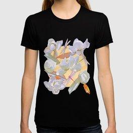 Magnolias and Dragonflies (Yellow Satin) T-shirt