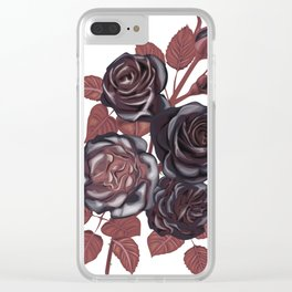 Gothic Roses. Vintage roses Clear iPhone Case