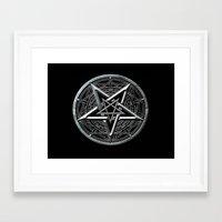 pentagram Framed Art Prints featuring Pentagram by Rab Sizzle