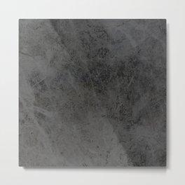 Bullet Gray Abstract Metal Print