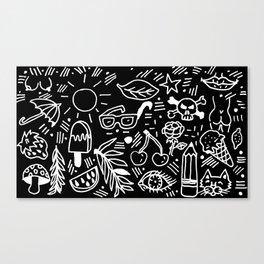 Black & White Minimal Pattern Canvas Print