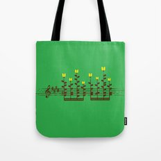 Music notes garden Tote Bag