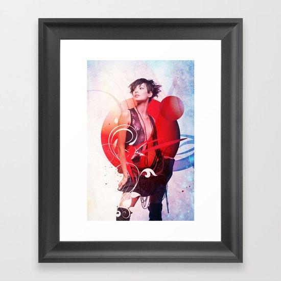 Data Kiss Framed Art Print