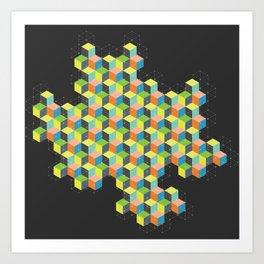 Island of Cubes Art Print