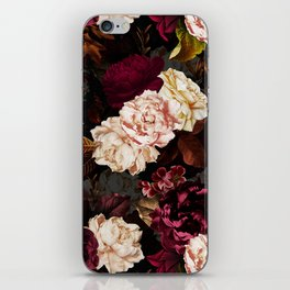 Vintage & Shabby Chic - Midnight Rose and Peony Garden iPhone Skin