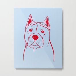 American Staffordshire Terrier (Blue and Red) Metal Print