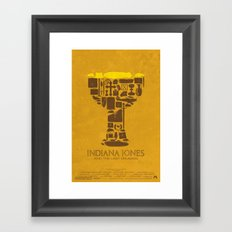 Indiana Jones and the Last Crusade Poster Framed Art Print