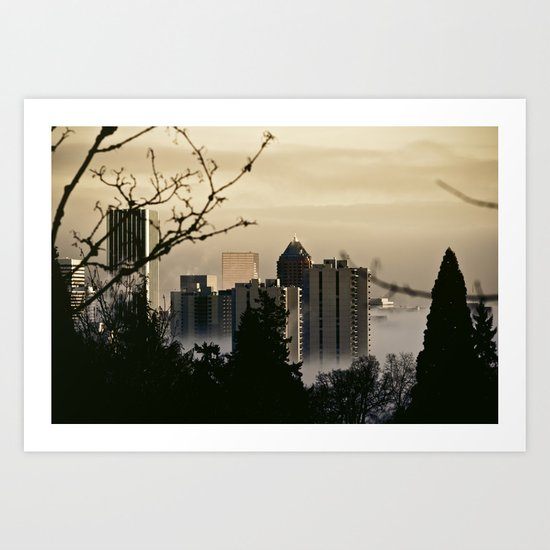 a visit from heaven Art Print