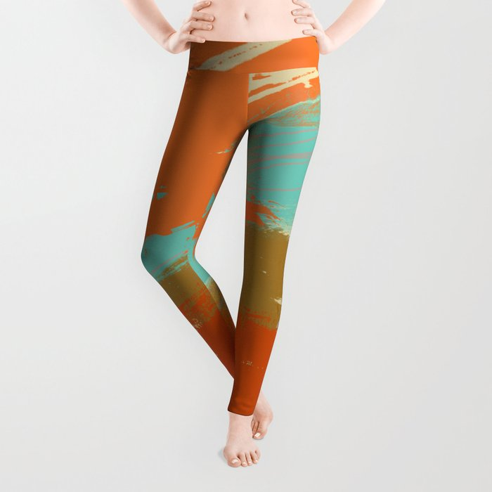 Secret Places, Abstract Landscape Art Leggings