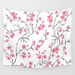 Cherry Blossom in Spring Wall Tapestry