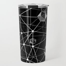 Black and White Geometric Shape Constellation Dream Travel Mug