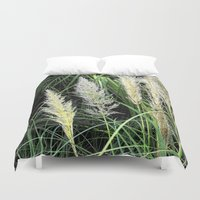 florida Duvet Covers featuring Florida Grasses by Glenn Designs