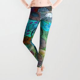 The Maliha - A Montage of Flowers Leggings