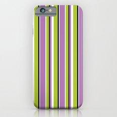 Fun Stripes purple green iPhone 6s Slim Case