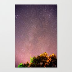 Meteors near the Milky Way II Canvas Print