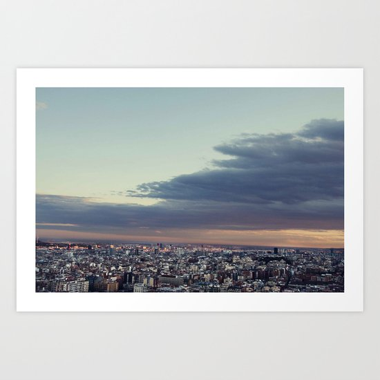 Over Barcelona Art Print