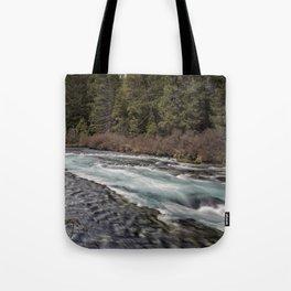 Metolius River near Wizard Falls Tote Bag