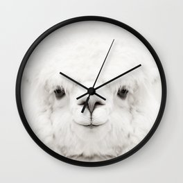 SMILING ALPACA Wall Clock
