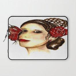 THE SPANISH WOMAN / ORIGINAL DANISH DESIGN bykazandholly  Laptop Sleeve