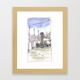 Ducks in the River Framed Art Print