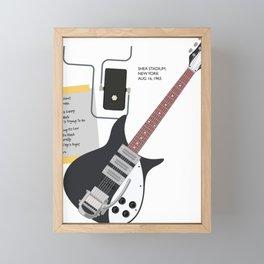 Shea Stadium Setlist Framed Mini Art Print