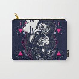 women with tattoo sacred geometry Carry-All Pouch
