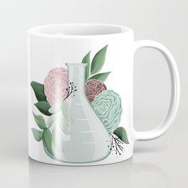 Floral Erlenmeyer Flask Coffee Mug