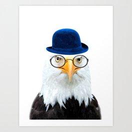 Funny Eagle Portrait Art Print