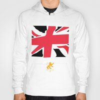 uk Hoodies featuring uk by John Choi King