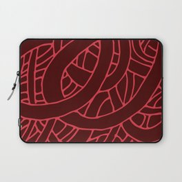 Microcosm in Red Laptop Sleeve