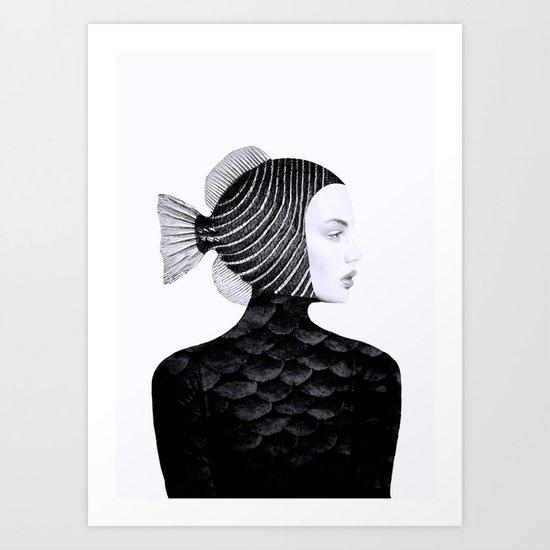 Woman Fish II Art Print