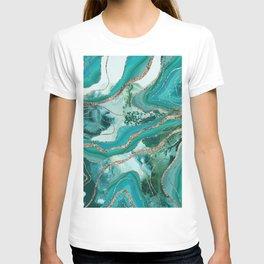 Liquid Marble Agate Glitter Glam #5 (Faux Glitter) #decor #art #society6 T-shirt