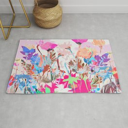 Pink Abstract Terrazzo Floral Rug